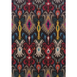 Vibrant Boheiman Abstract-pattern Gray/ Multicolored Polypropylene Rug (9'9 x 12'2)