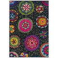 Kaleidoscope Gray/ Multi 100-percent Polypropylene Rug (6'7 x 9'1)
