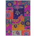 Kaleidoscope Pink/ Multicolored Polypropylene Area Rug (4' x 5'9)