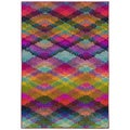 Kaleidoscope Pink and Multicolored Area Rug (4' X 5'9)