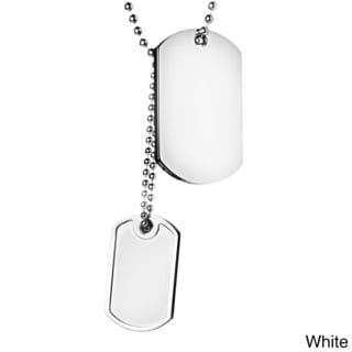 Crucible Stainless Steel Brushed and Polished Double Dog Tag Pendant