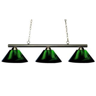 Sharp Shooter Acrylic Green 3-light Billiard Light Fixture
