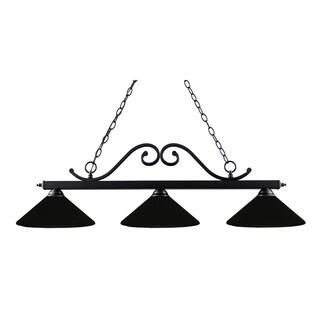 Windsor 3-light Black Billiard Light Fixture