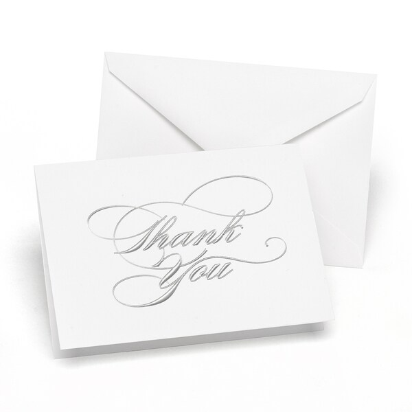 Silver Thank You Notes