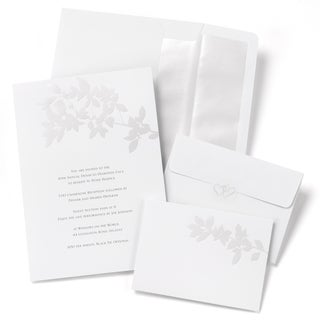 Pearl Leaves Invitation Kit