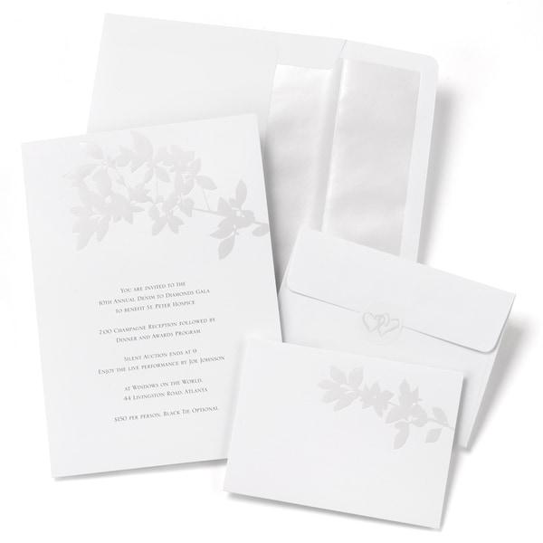Pearl Leaves Invitation Kit
