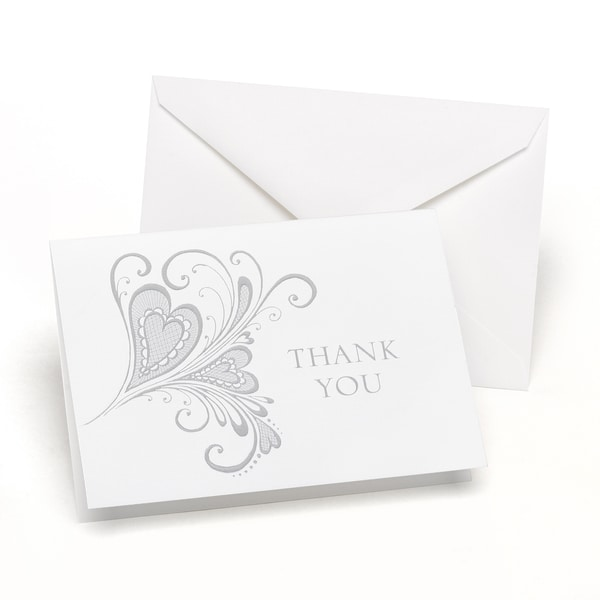 Paisley Heart Thank You Notes