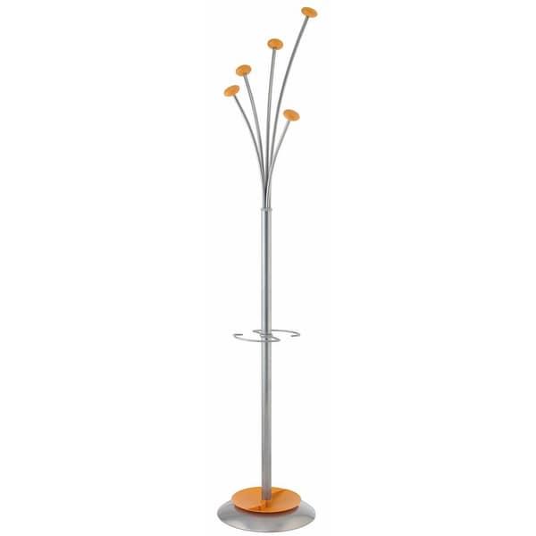 Alba Festival Orange Modern Large Capacity Coat Rack with Umbrella Holder