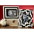 "Horn/ Bone Geometric Frames (Set of 2) (4""x6"")"