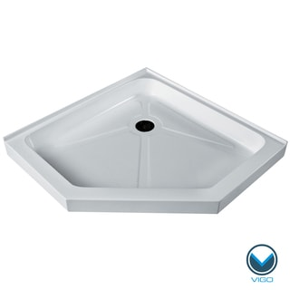 Vigo White Short/Low Profile Neo-Angle Shower Tray (42x42)