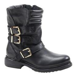 Women's Bronx Tone Down Black/Gold Waxy Cow Leather
