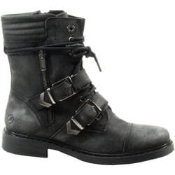 Women's Bronx Mister Ree Black Cow Stonewashed Leather