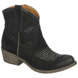 Women's Naya Sandy Black Bota Oil/CrossHatch Leather