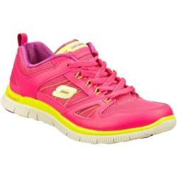 Women's Skechers Flex Appeal Spring Fever Hot Pink/Lime