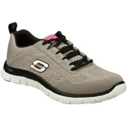Women's Skechers Flex Appeal Sweet Spot Light Gray/Black