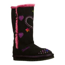 Girls' Skechers Twinkle Toes Keepsakes Heart Sparkler Black/Purple
