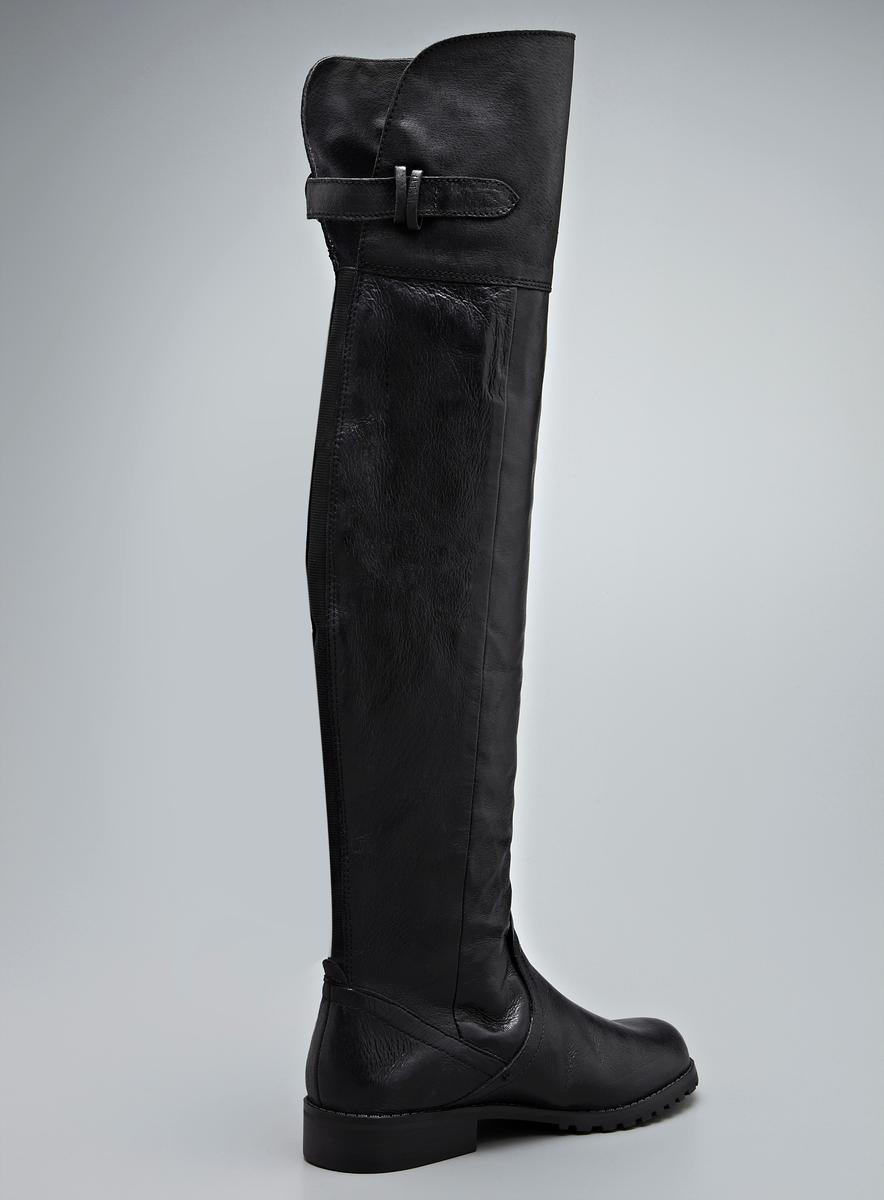 Steve Madden Monty Over The Knee Flat Leather Boot