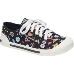 Women's Rocket Dog Jazzin Black Daisy Rock Cotton