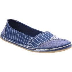 Women's Rocket Dog Willow Blue Railway Stripe Cotton