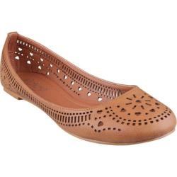 Women's Beston Cherry-02 Tan Faux Leather