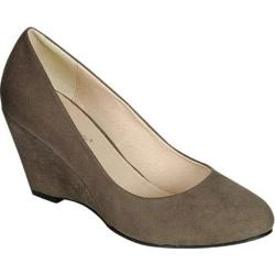 Women's Beston Daisy-06 Grey Faux Suede