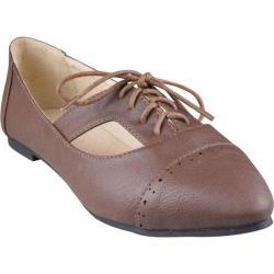 Women's Beston Sweet Brown Faux Leather