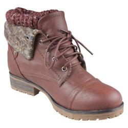 Women's Beston Wynne-01 Brown Faux Leather