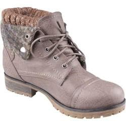 Women's Beston Wynne-01 Taupe Faux Leather