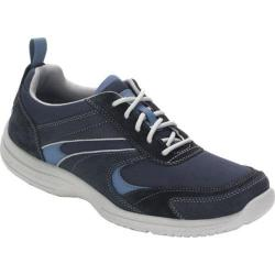Men's Rockport Wachusett Trail Sport Lace Up Navy/Light Blue Leather