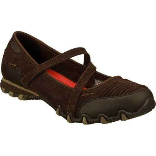 Women's Skechers Relaxed Fit Bikers Fashion Frontier Chocolate