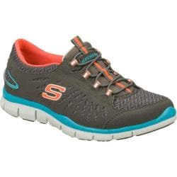 Women's Skechers Gratis In Motion Gray/Orange