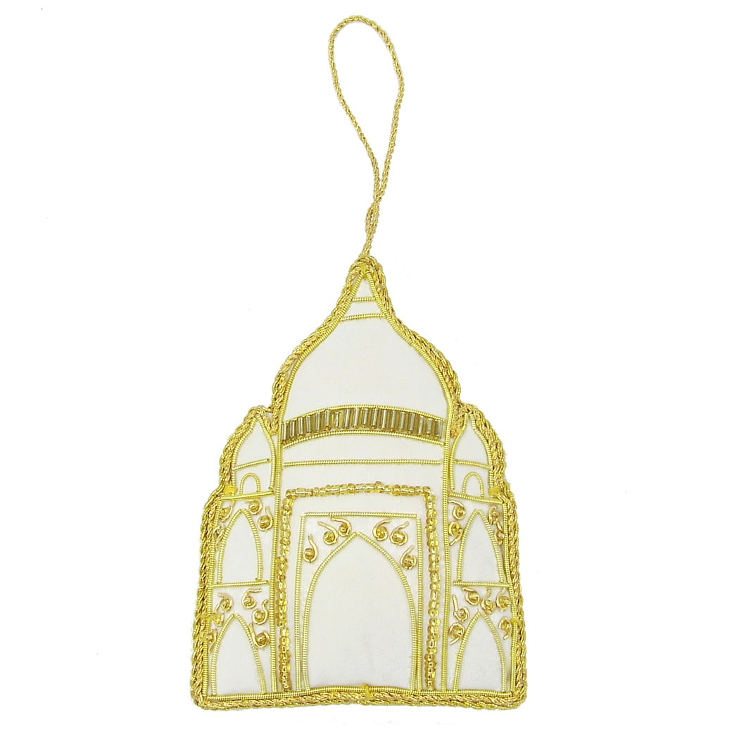 Handcrafted Beaded Taj Mahal Ornament (India)