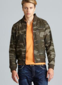 Members Only Camo BBall Jacket