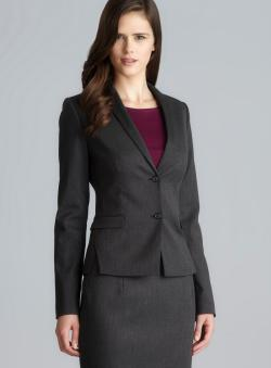 Tahari Two Pocket Peaked Lapel Blazer