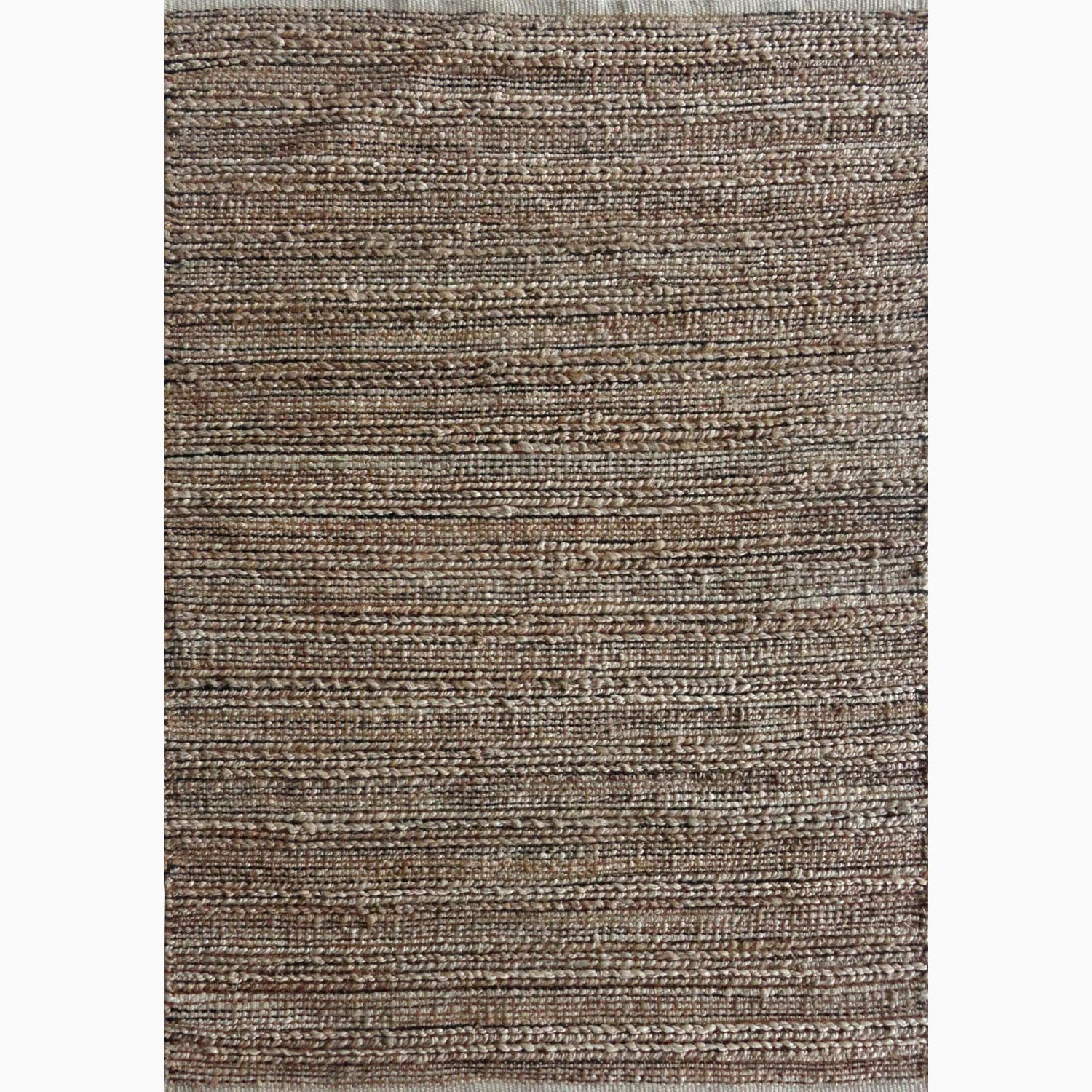 Handmade Solid Pattern Taupe/ Gray Cotton/ Jute Rug (2'6 x 4)