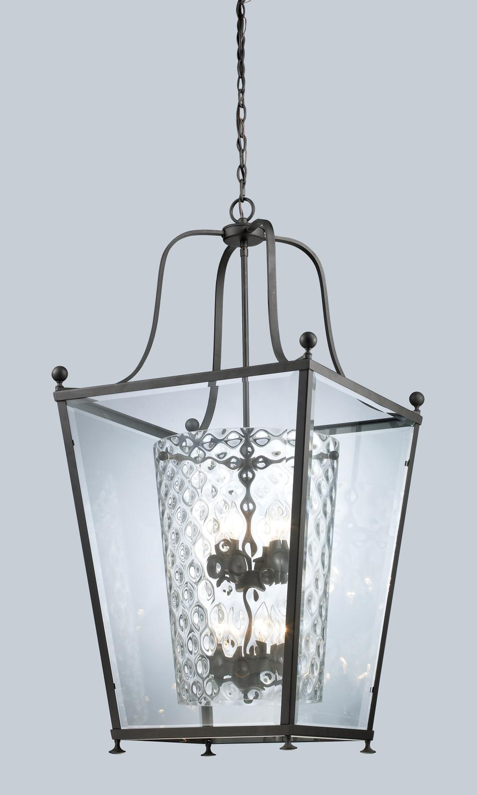 Z-Lite Bronze Transitional Caged 8-light Pendant