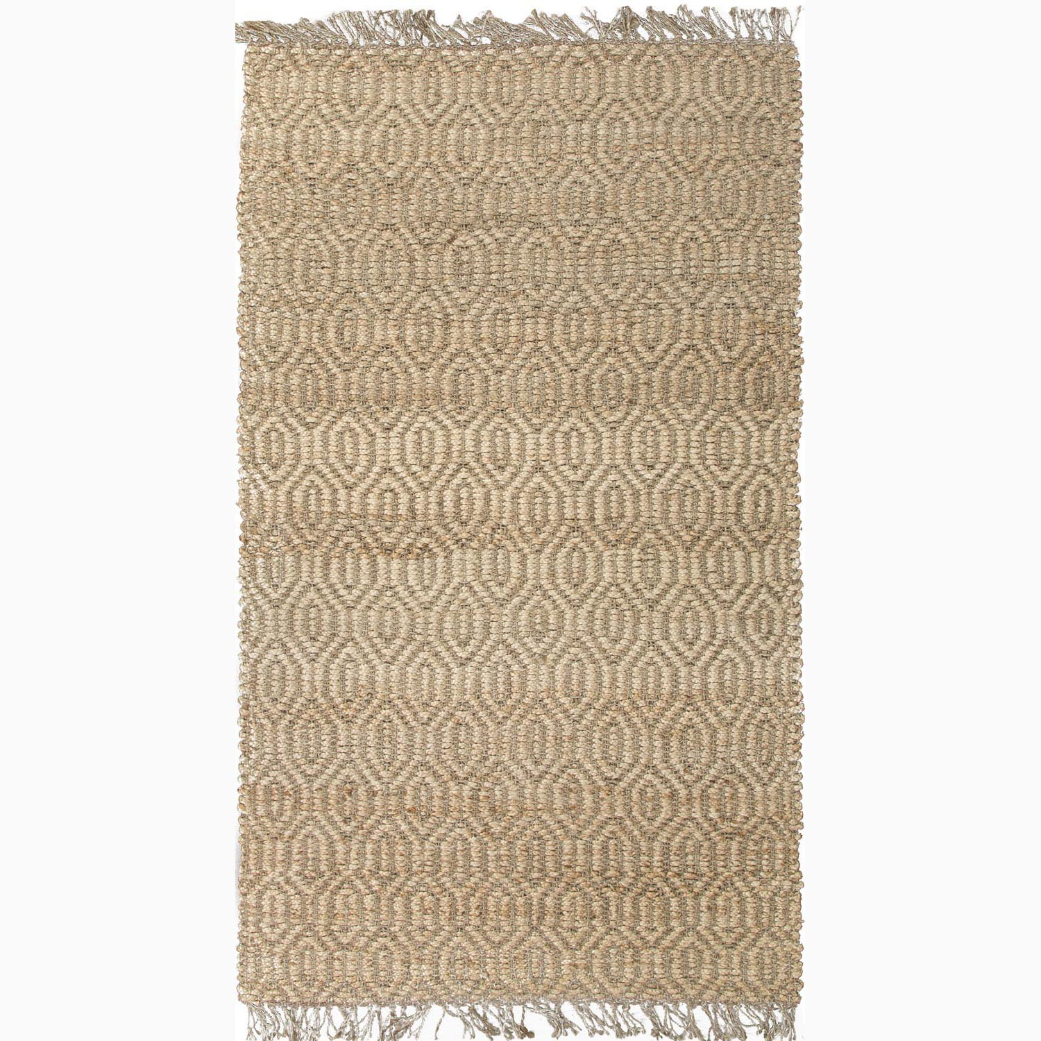 Handmade Contemporary Taupe/ Tan Jute Natural Rug (5 x 8)