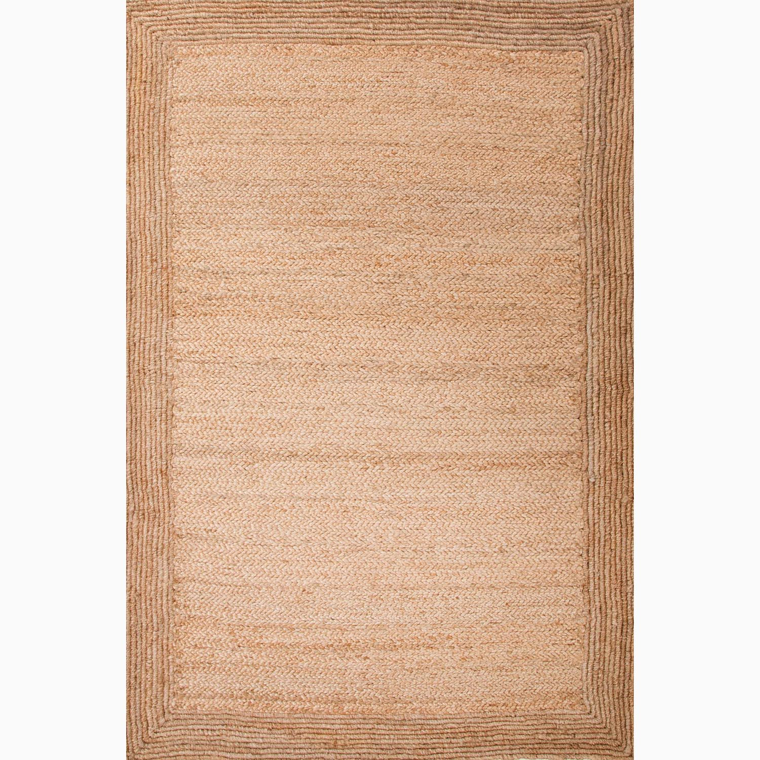 Handmade Taupe/ Tan Jute Natural Textured Rug (2' x 3')