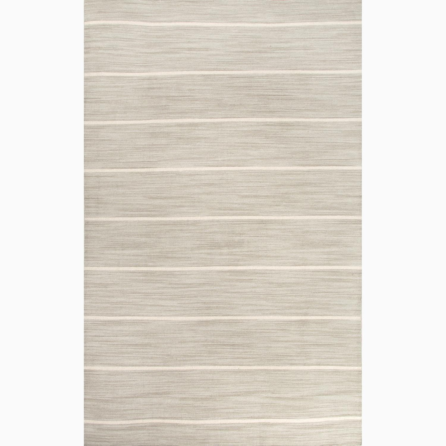 Handmade Stripe Pattern Gray/ Ivory 100-percent Wool Rug (4 x 6)