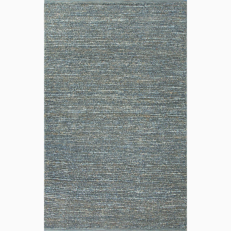 Contemporary Handmade Solid Pattern Blue Jute Rug (2 x 3)