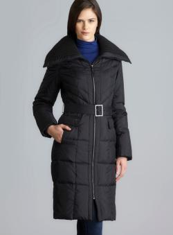 Cole Haan Two Pocket Zipper & Belt Down Jacket