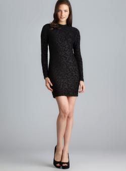 Soprano Mock Neck Patterned Back Cutout Dress