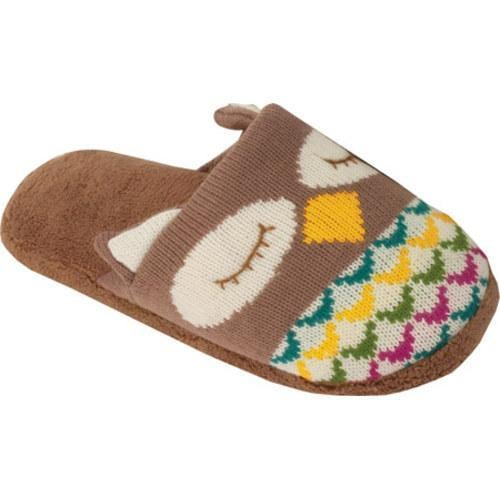 Womens Aroma Home Knitted Slippers Owl - 15868240 - Overstock.com Shoppi...
