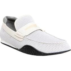 Men's Donald J Pliner Dulse-PC03 Silver Padded Mesh/White Nubuck