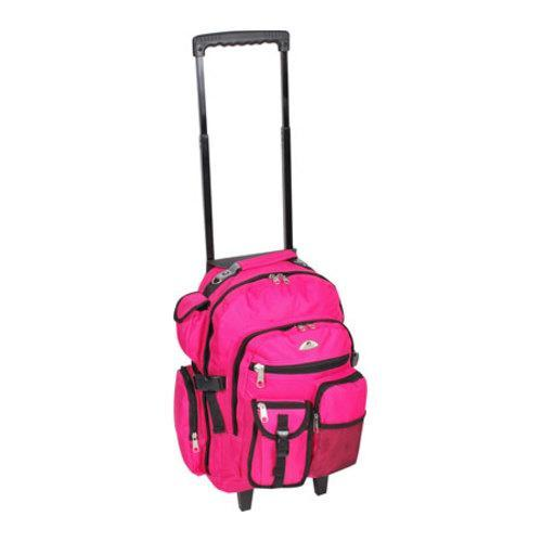 Everest Deluxe Wheeled Backpack Hot Pink