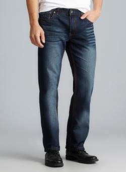 XRAY Contrast Stitch Five Pocket Distressed Jeans