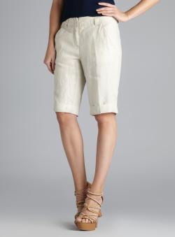 Isda & Co Coated Linen Bermuda Shorts
