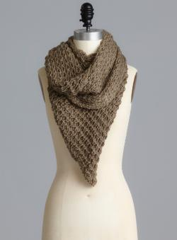 Bellissima Triangle Knit Loop Scarf
