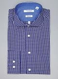 Isaac Mizrahi Blue Paid Slim Fit Button Down Dress Shirt