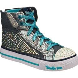 Girls' Skechers Twinkle Toes Shuffles Rock N Beauty Navy